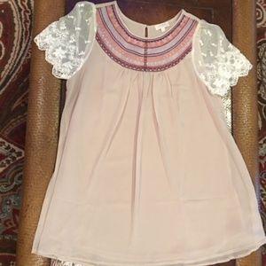Umgee Lace Embellished Tunic